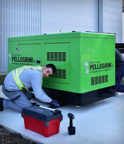 Pellegrini Groupe électrogène sur chassis